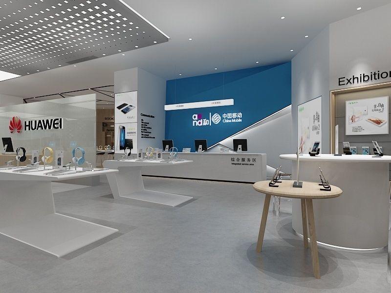 Phone Shop 1 3D model 移动营业厅模型  手机专卖店模型  专卖店模型