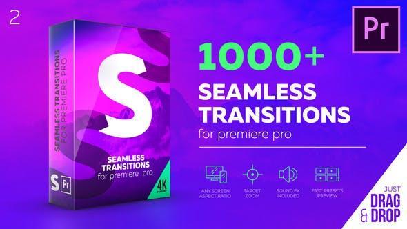 Seamless Transitions for Premiere Pro 1000种缩放冲击平移扭曲干扰炫光无缝转场V2.1