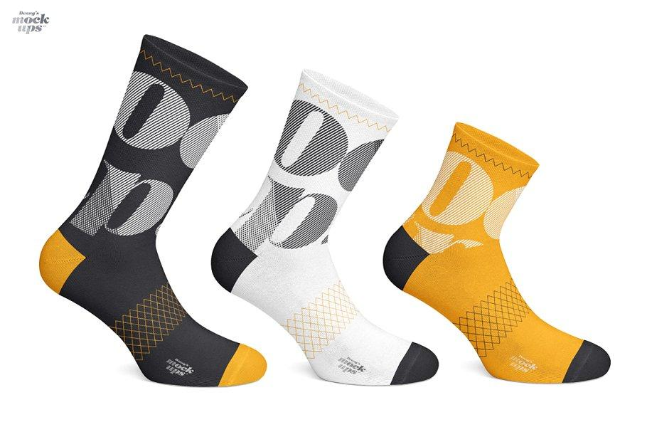 Cycling Socks 3 Types Mockup袜子样机