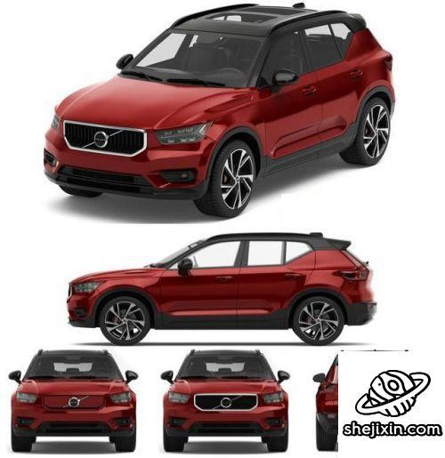 Car Volvo XC40 XC40 Recharge 2020 沃尔沃XC40电动汽车模型