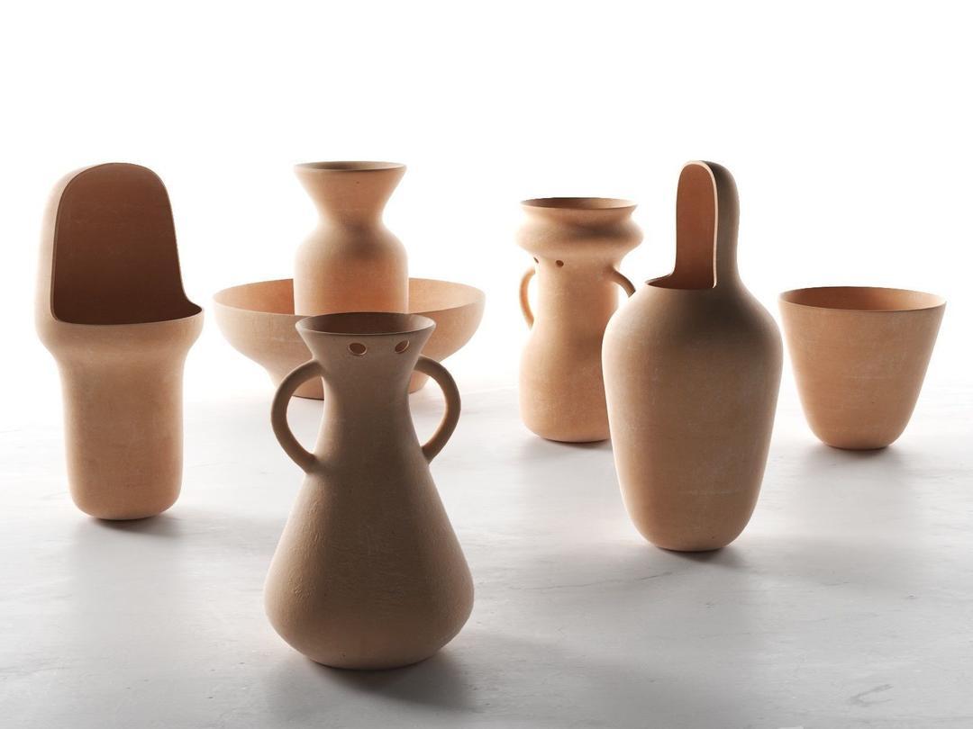 陶罐花瓶C4D模型 gardenias vases,3D模型