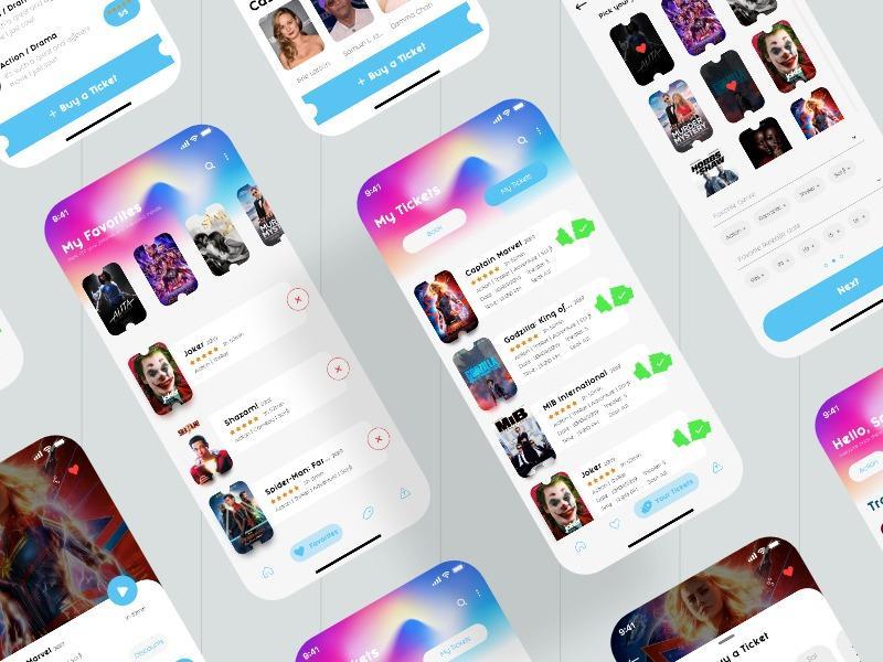 Cinema App   UI kits 电视剧APP UI 模版  电影app UI