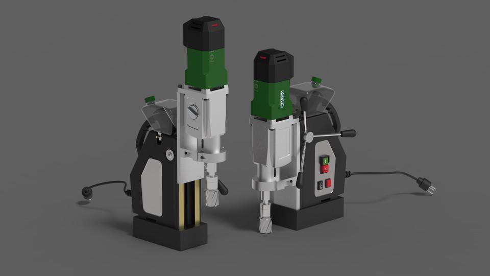 电磁钻模型Magnetic Drill 3d Model