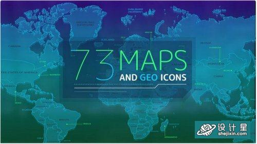 73 Maps And Geo Icons - After Effects 339863