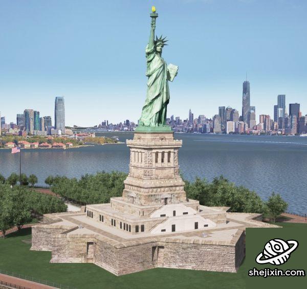 TurboSquid – Statue of Liberty 自由女神像雕塑模型