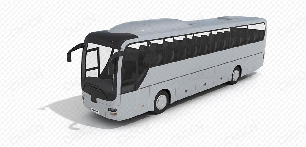 旅游客车C4D模型 Tourist bus 3d model