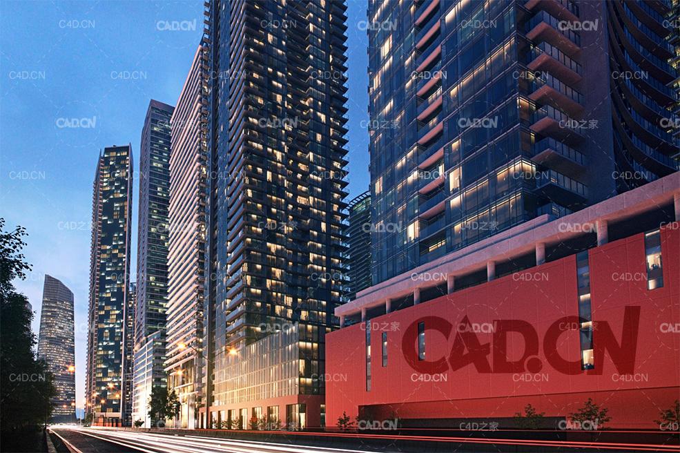 52栋摩天大厦高层建筑C4D模型,3D模型