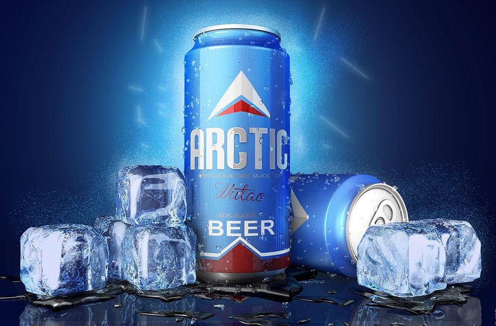 C4D易拉罐饮料冰块工程文件