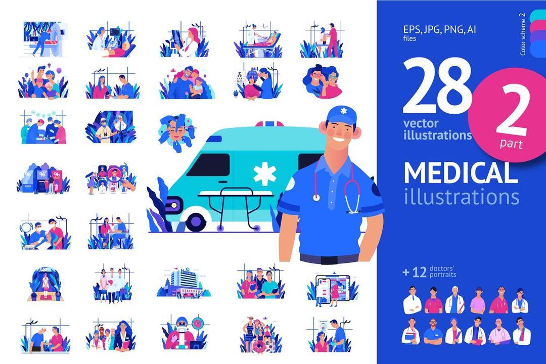 Part 2 Medical illustration, Color 2 Creativemarket 3950439