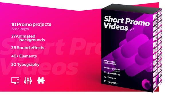 Short Promo Videos. Set v.1 (Promo projects | Sound FX | Typography more)
