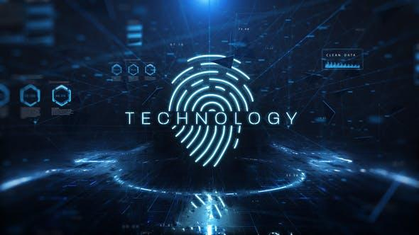 Videohive - Technology - 21852086 指纹科技公司logo演示AE模版
