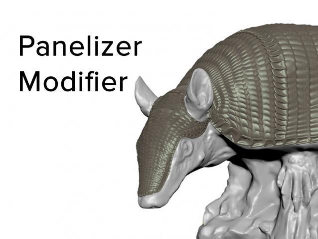3dsMax几何拼板修改器Panelizer Modifier 1.0 For 2018+