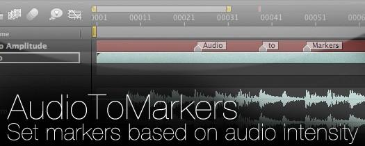 AE声音卡点生成文本/标记插件AudioToMarkers v1.53+使用教程