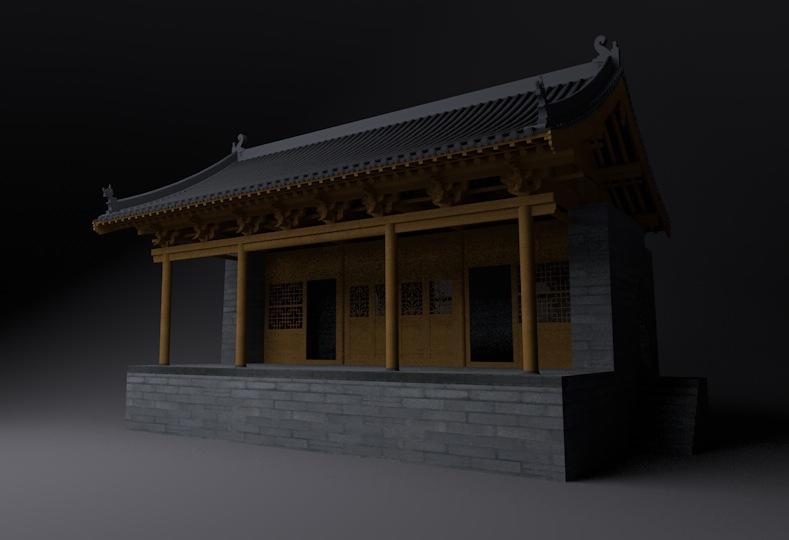 古建筑模型:戏台C4D模型 Stage,3D模型