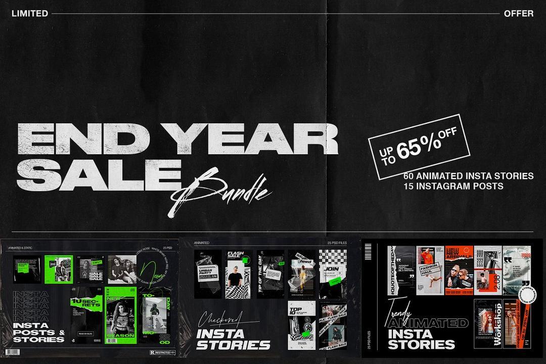 End of Year Sale Instagram Bundle 4435312