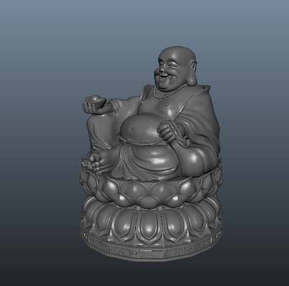 弥勒佛(莲花座)3D模型 Maitreya Buddha(C4D/Max/FBX)