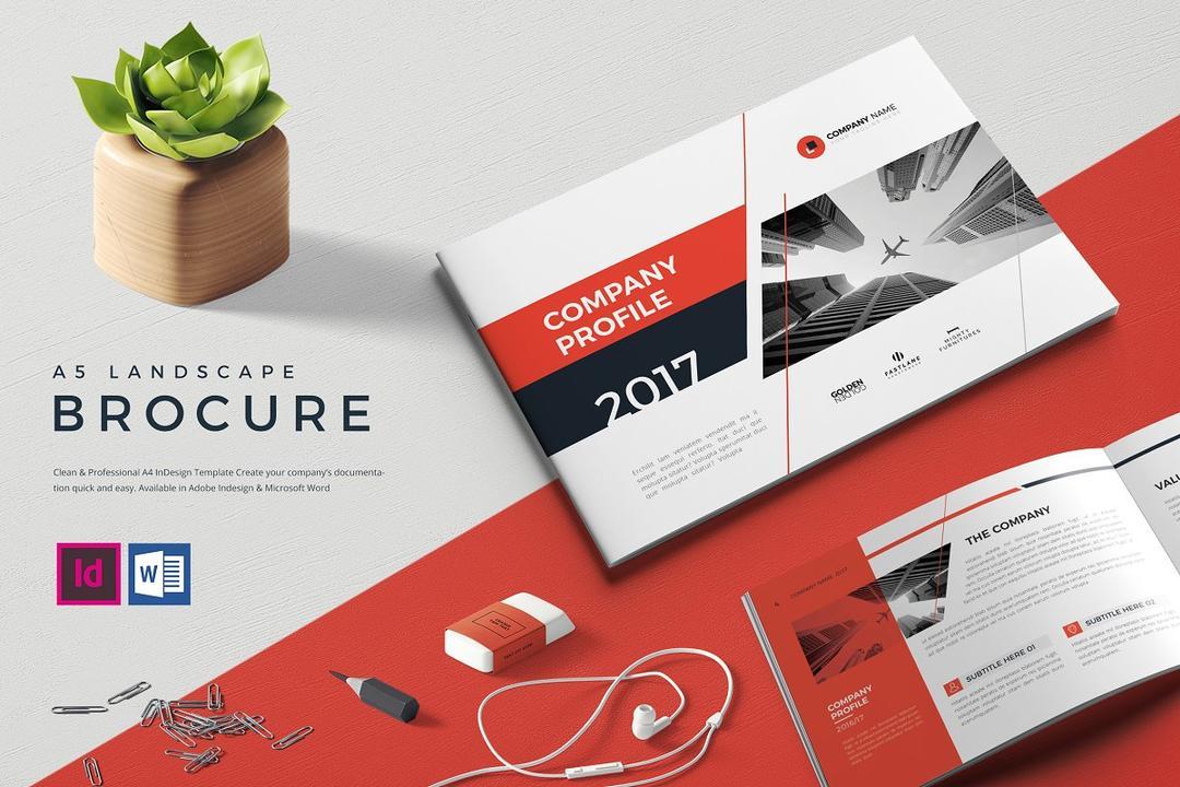 A5 Landscape Company Profile 2185645 企业画册模版 年会画册模版 企划书模版