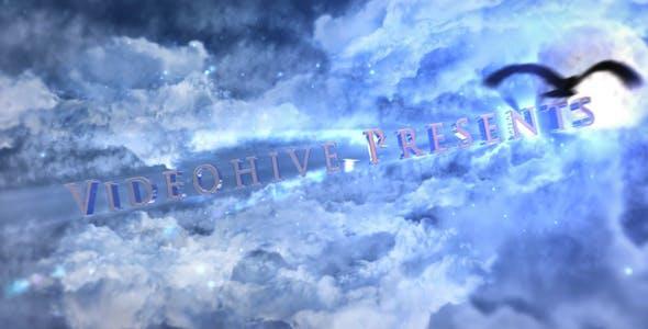 云层穿梭三维E3D文字动画预告片开场宣传片AE模板三维云层穿梭文字图片开场 Cinematic Sky Trailer
