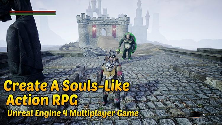 Unreal Engine 4: Souls-Like Action RPG w/ Multiplayer