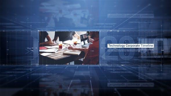 Technology Corporate Timeline 24988804 企业宣传片AE模版  科技公司发展历程AE模版