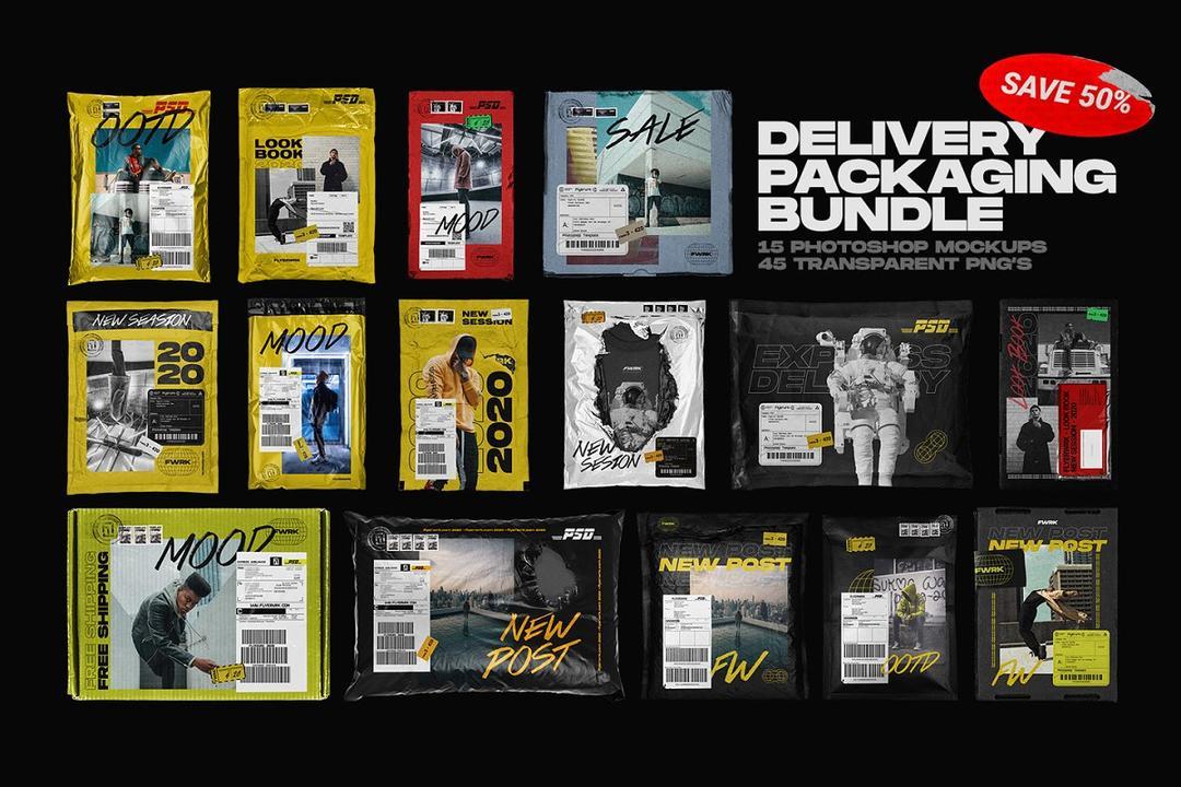 Delivery Packaging Mockup Bundle 4608231