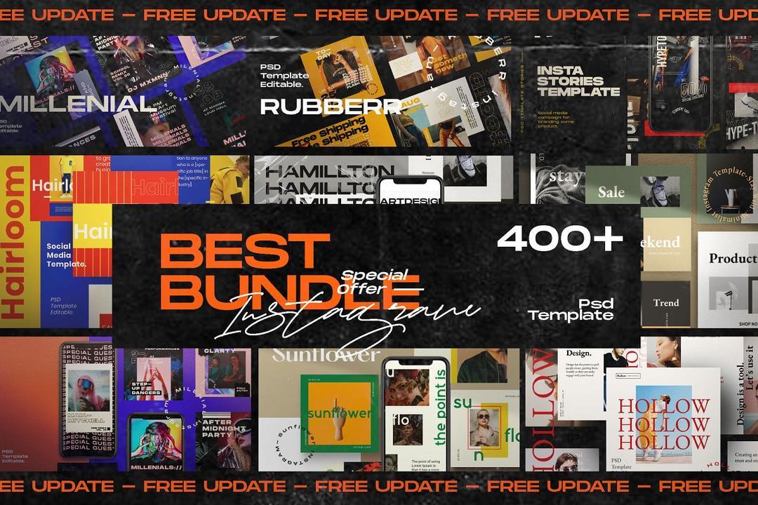 Best Bundle INSTAGRAM Media Kit 4588837 最佳捆绑INSTAGRAM媒体套件模版