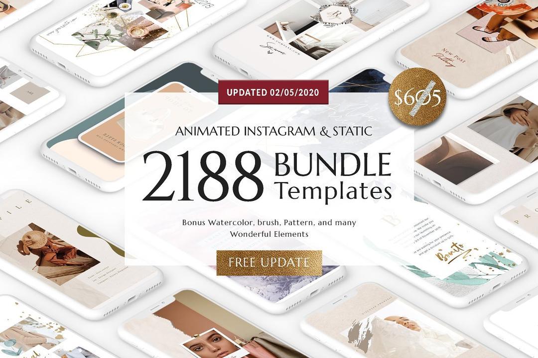 BUNDLE ANIMATED Social Media Pack 3205811 捆绑动画社交媒体海报模版素材包(02/05/2020包更新)