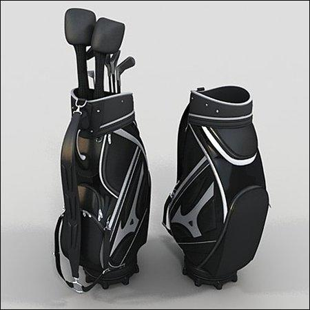 3D Golf Bag 高尔夫球杆模型