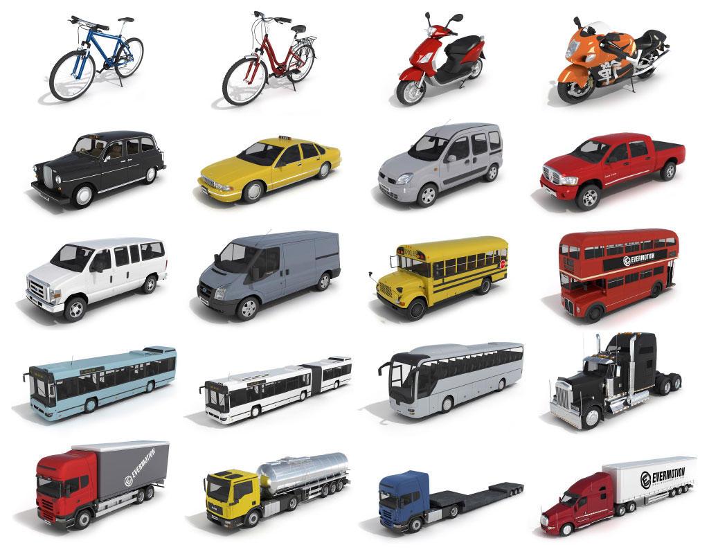 38个交通运输工具C4D模型合集 Transportation tools(C4D)