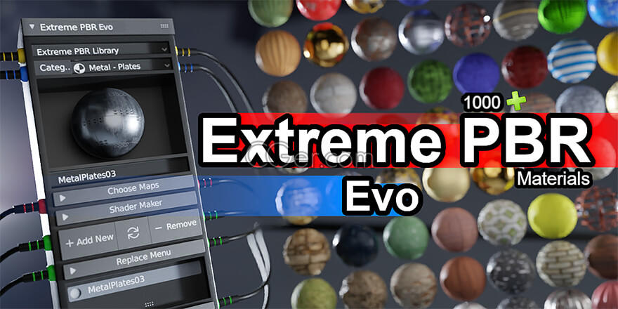 Extreme PBR Combo With 1100+ Materials Addon For Blender 2.79-2.81-2.82