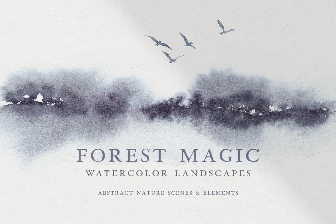Abstract Watercolor Landscapes抽象水彩风景