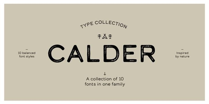 Calder Font Family  Calder字体 圆润字体 无衬线运动字体