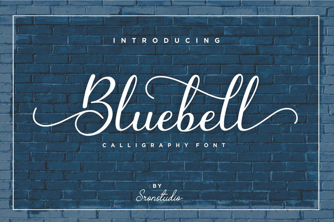 Bluebell - Calligraphy Font 英文书法字体