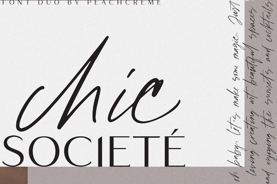 Chic Societe// Stylish Font Duo 优雅的英文字体 婚礼衬线字体 女装品牌衬线字体