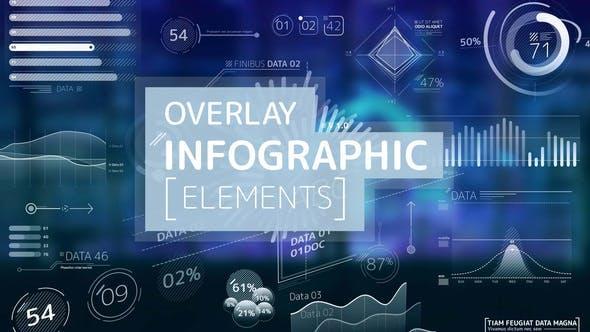 Overlay Infographic Elements 24566996 HUD信息数据UI图表动态元素