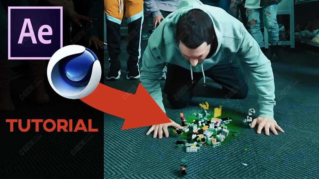 C4D+AE合成乐呕吐高玩具真人动画特效教程_C4D教程