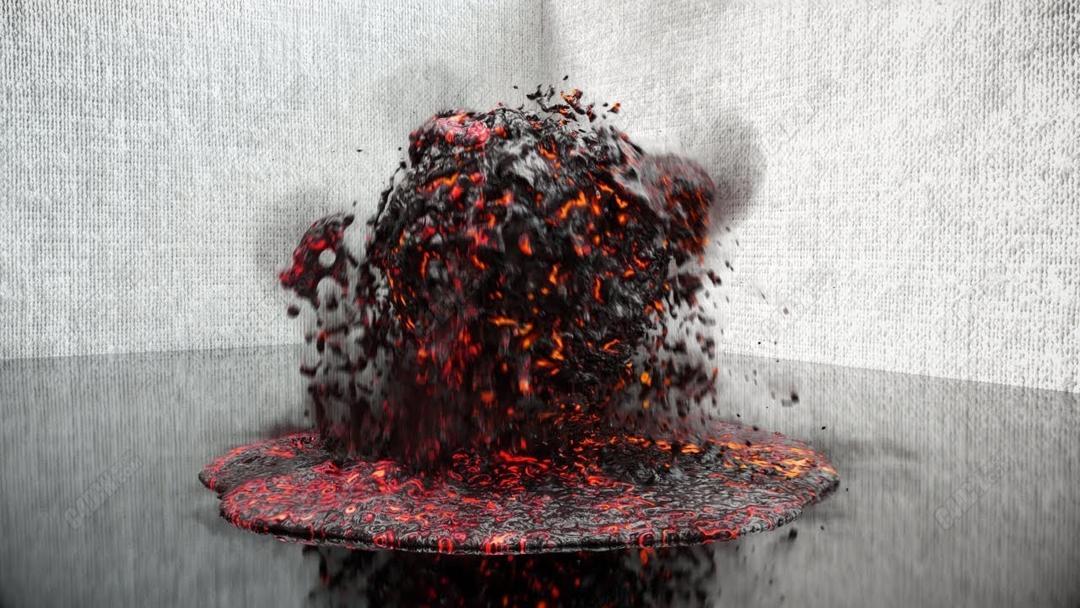C4D旋转球流体烟雾岩浆熔岩动画教程[包含工程文件]_C4D教程