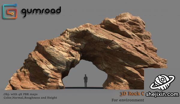 Gumroad – 3D Rocks Collection Vol.1 – 3 and Cliffmaker by Alen Vejzovic