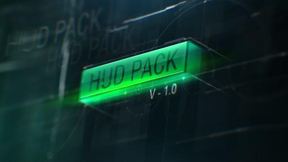HUD Pack v1.0 AE模板-简洁创意高科技HUD屏幕UI元素动画包HUD Pack v1.0 18690685