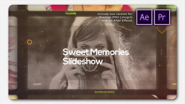Sweet Memories Cinematic Slideshow 甜蜜回忆相册AE模板 情人节浪漫回忆录PR模板