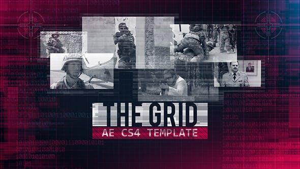 战争游戏军事纪录片主题AE模板 The Grid 7810457