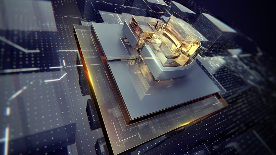 C4D玻璃质感的科技类栏目包装静帧工程,C4D工程