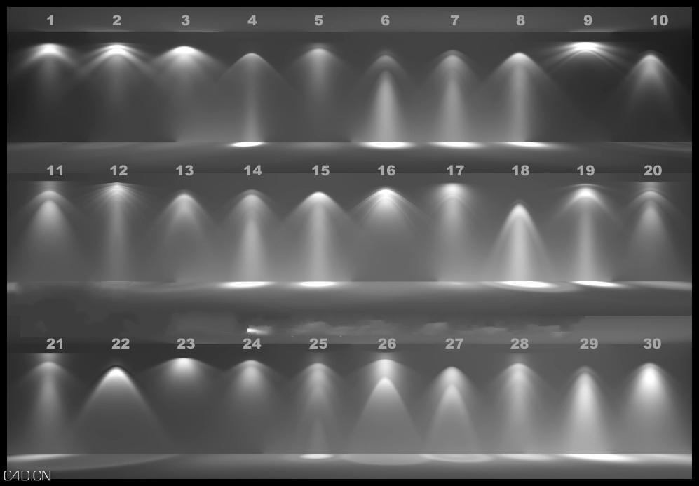 30个常用的IES射灯素材,贴图素材