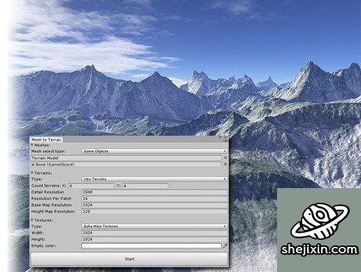 Unity Asset – Mesh to Terrain v2.1.5.1 Unity网格地形插件