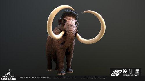 Mammuthus primigenius 原始动物 猛犸象模型