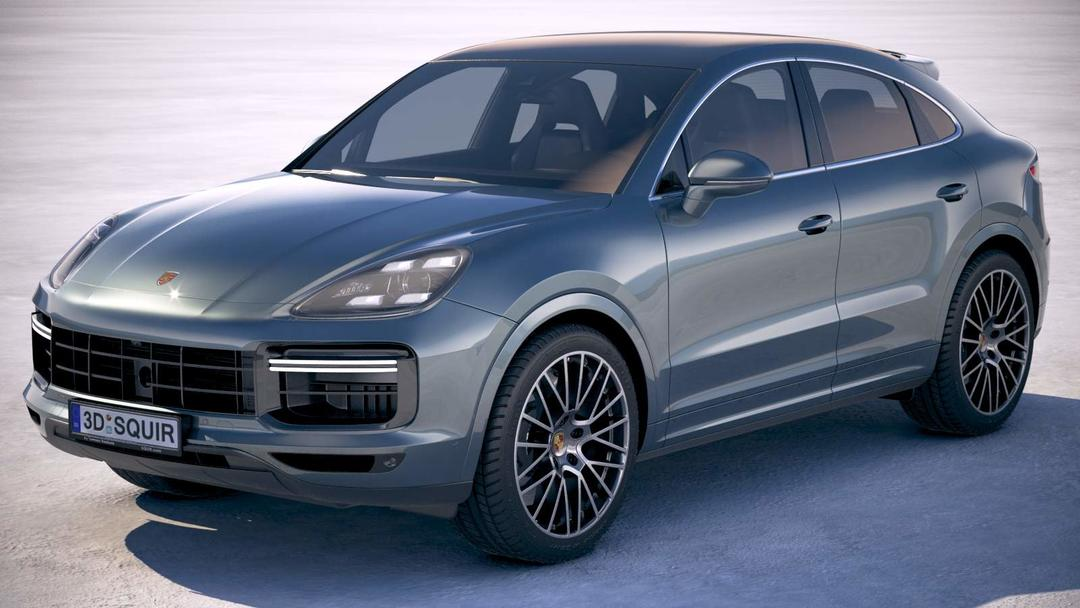 保时捷卡宴2020汽车模型Porsche Cayenne Turbo Coupe 2020 3D Model