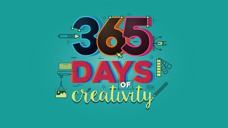 365 Days of Creativity 平面设计365天技能分享大师班视频教程