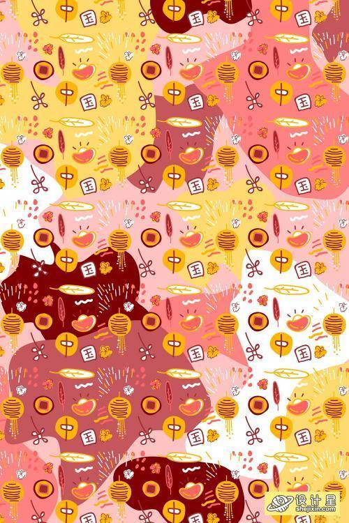 Chinese good fortune wallpaper vector - 1200725 中国吉祥壁纸矢量图