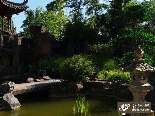 Landscape Scene by Nga Nguyen 中国古代传统庭院场景模型 庭院枯山水场景模型 假山水模型