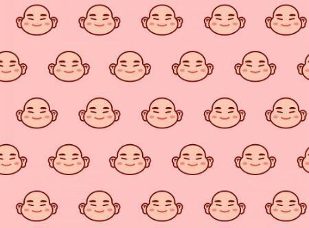Chinese laughing Buddha wallpaper vector - 1200765 中国笑佛壁纸矢量图